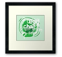 Sitty Thing Framed Print