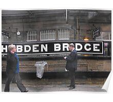 Hebden Bridge Railway Station. Poster