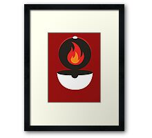 Pokeball - Fire Framed Print