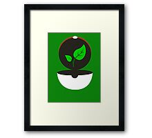 Pokeball - Earth Framed Print
