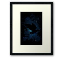 How to train your dragon - Toothless and Hiccup night Framed Print