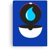 Pokeball - Water Canvas Print