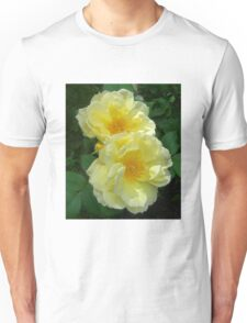 Two Yellow Roses Unisex T-Shirt