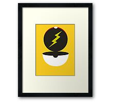 Pokeball - Lightening Framed Print