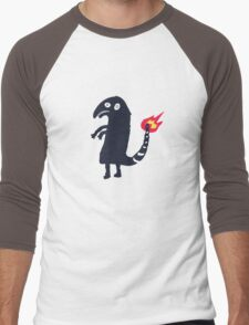 Drunk Charmander tattoo Men's Baseball ¾ T-Shirt
