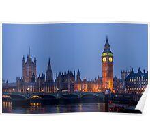 London at Twilight Poster