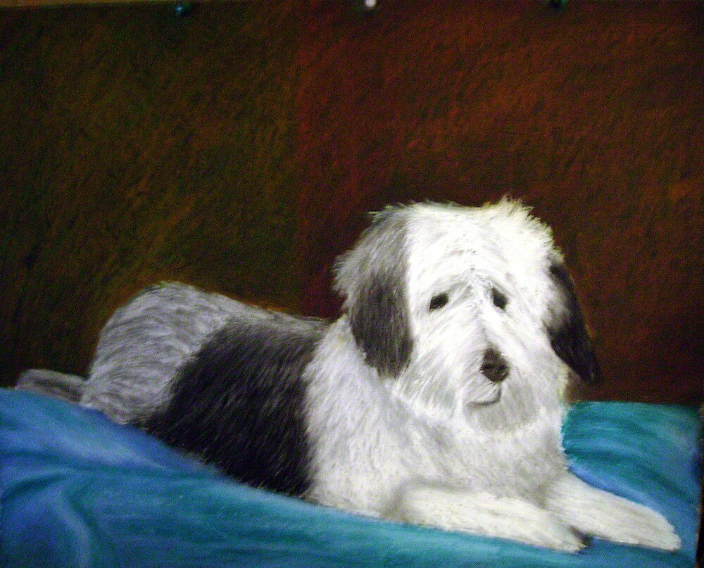 dog on bed by artyratty