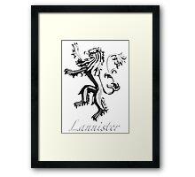 Lannister Framed Print