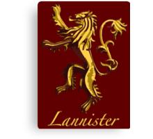 Lannister Canvas Print