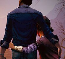 Clementine & Lee- The Walking Dead Game by BAMItsAbbie