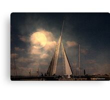 Moonlit Sails Canvas Print