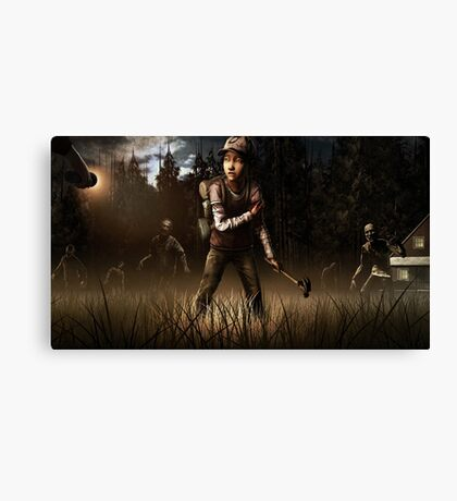 Clementine- The Walking Dead Game Canvas Print