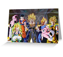 Dragon Ball Z Characters Greeting Card