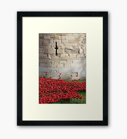 Blood swept Lands and Seas of red #4 Framed Print