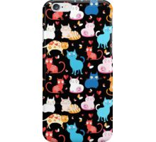 pattern of different cats iPhone Case/Skin