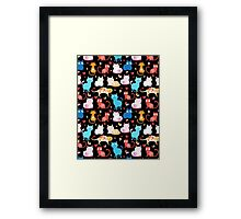 pattern of different cats Framed Print