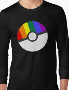 Pokemon 'Prideball' LGBT Pokeball Shirt/Hoodie/etc Long Sleeve T-Shirt