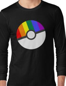 Pokemon 'Prideball' LGBT Pokeball Shirt/Hoodie/etc Long Sleeve T-Shirt