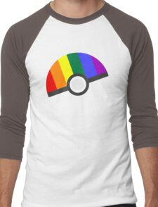 Pokemon 'Prideball' LGBT Pokeball Shirt/Hoodie/etc Men's Baseball ¾ T-Shirt