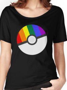 Pokemon 'Prideball' LGBT Pokeball Shirt/Hoodie/etc Women's Relaxed Fit T-Shirt