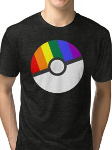 Pokemon 'Prideball' LGBT Pokeball Shirt/Hoodie/etc Tri-blend T-Shirt