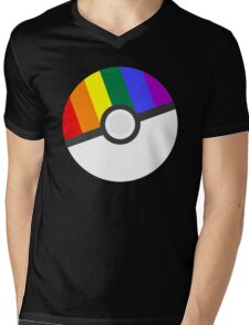 Pokemon 'Prideball' LGBT Pokeball Shirt/Hoodie/etc Mens V-Neck T-Shirt