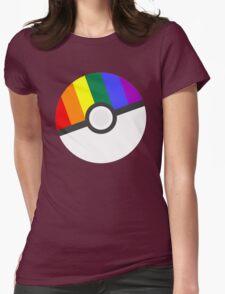 Pokemon 'Prideball' LGBT Pokeball Shirt/Hoodie/etc Womens Fitted T-Shirt
