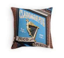 Nice Irish Canton pub, Claddagh Pub Throw Pillow
