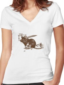 Mimi's Mouse Milk Women's Fitted V-Neck T-Shirt