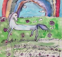 Unicorn and Rainbow by Zoe Thomas age 7 by Julia  Thomas