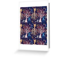 pattern beautiful magical trees Greeting Card
