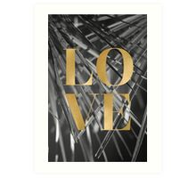 Gold foil LOVE typography Art Print