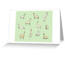 Llamas Greeting Card