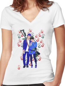 Bonnie and Clyde Women's Fitted V-Neck T-Shirt