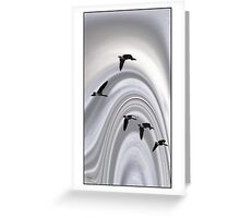 Geese in a Halo Greeting Card