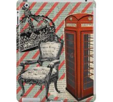 retro jubilee victorian chair london telephone booth iPad Case/Skin