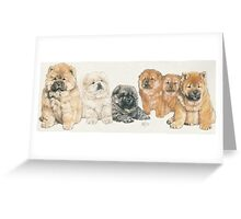 Chow Chow Puppies Greeting Card
