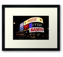 Piccadilly Circus, London at night. Framed Print