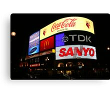 Piccadilly Circus, London at night. Canvas Print