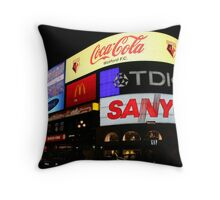 Piccadilly Circus, London at night. Throw Pillow