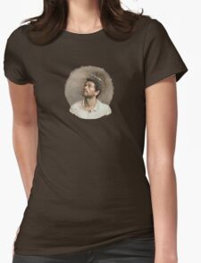 Castiel. White Womens Fitted T-Shirt