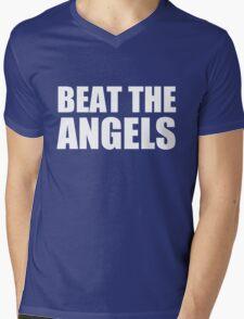LA DODGERS - BEAT THE ANGELS Mens V-Neck T-Shirt