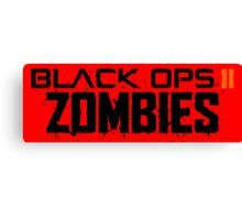 Black ops 2 Zombies Canvas Print