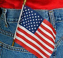 Patriotic Pocket by Maria Dryfhout
