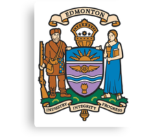 Coat of Arms of Edmonton  Canvas Print