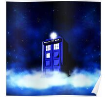 Tardis Blue in Cloud Poster