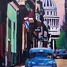 Cuban Oldtimer Street Scene in Havana Cuba with Buena Vista Feeling by artshop77