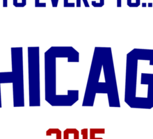 Tinkers to Evers to...Chance! Chicago Cubs 2015 Sticker