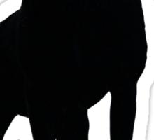 Shadow dog. Sticker