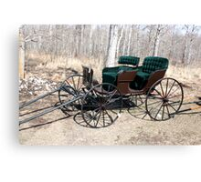 """""""Are You Ready Yet?* Four  Passenger  Pleasure  Buggy  With Velvet Seats Canvas Print"""
